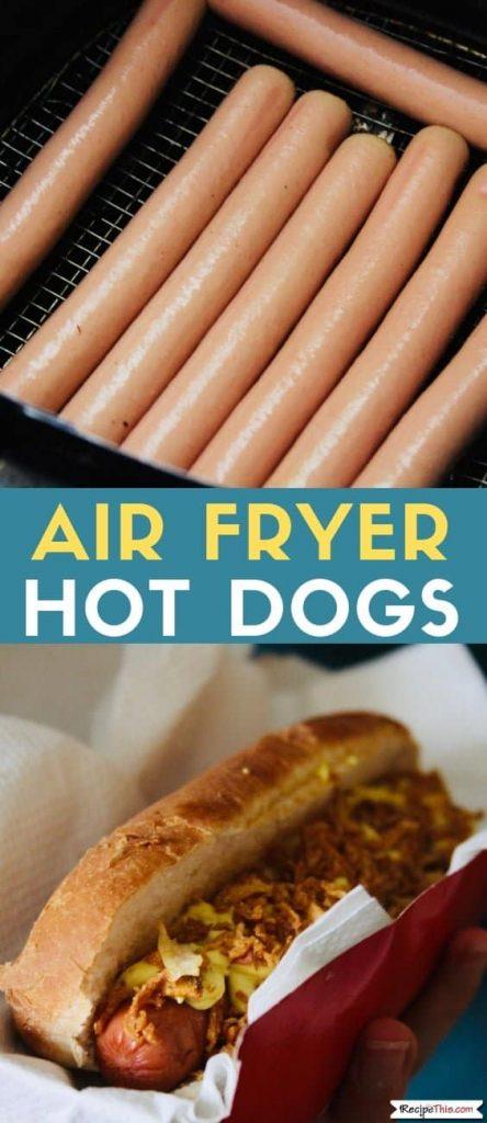 Air Fryer Hot Dogs