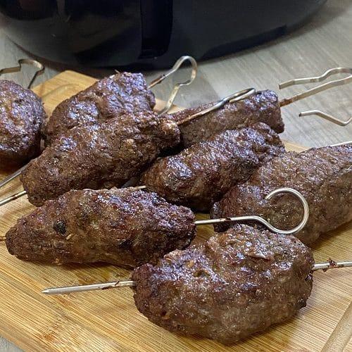 Air Fryer Lamb Kofta Kebabs