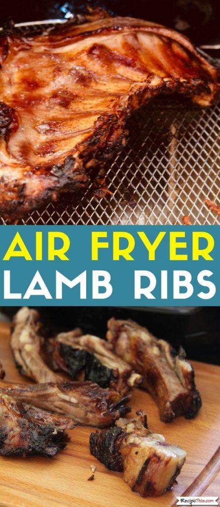 Air Fryer Lamb Ribs recipe
