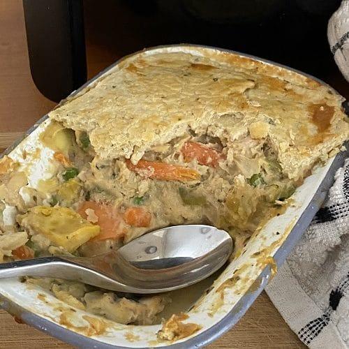 Air Fryer Leftover Turkey Pot Pie