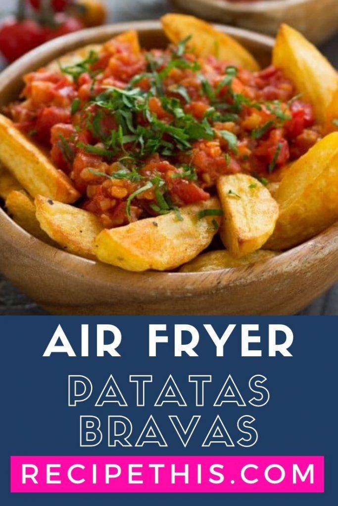 Air Fryer Patatas Bravas at recipethis.com