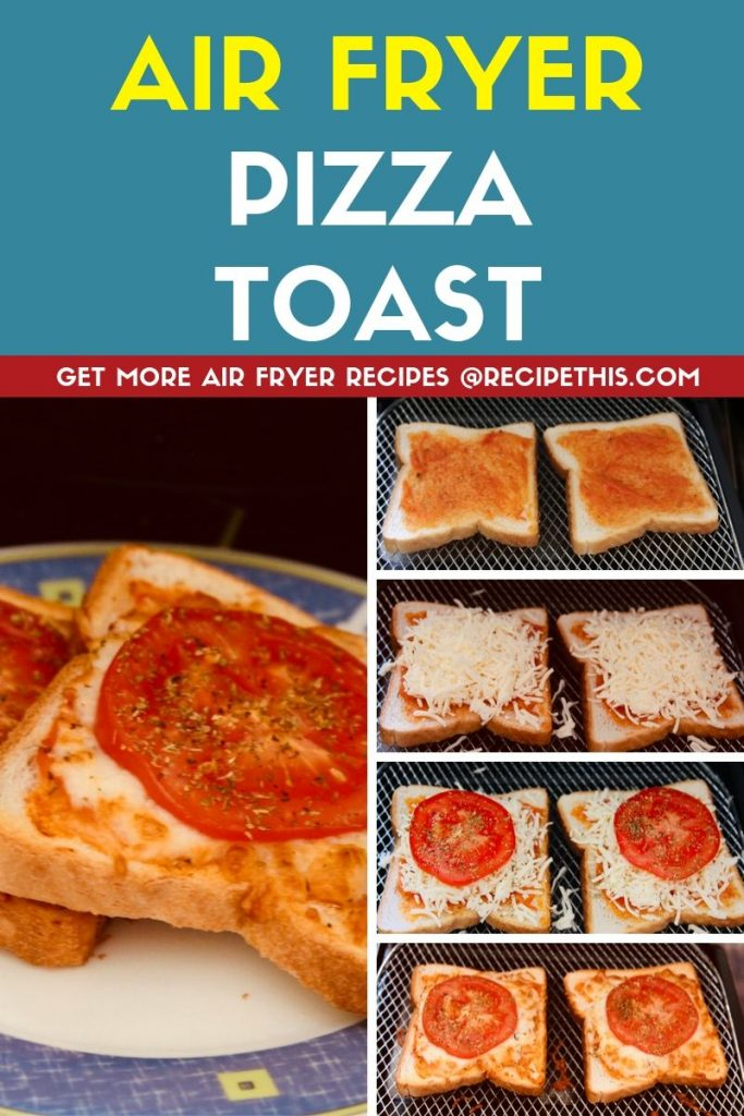 Air Fryer Pizza Toast step by step
