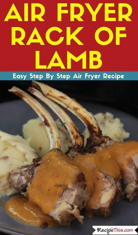 Air Fryer Rack Of Lamb air fryer recipe