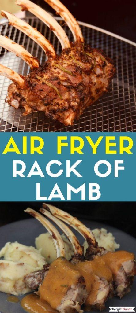 Air Fryer Rack Of Lamb recipe