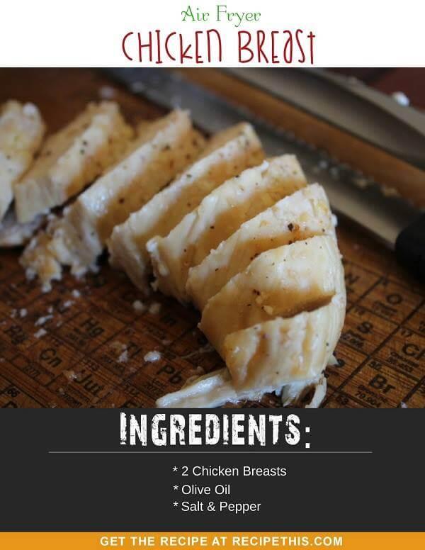 Air Fryer Recipes - Air Fryer Chicken Breast how to cook chicken breast in the air fryer