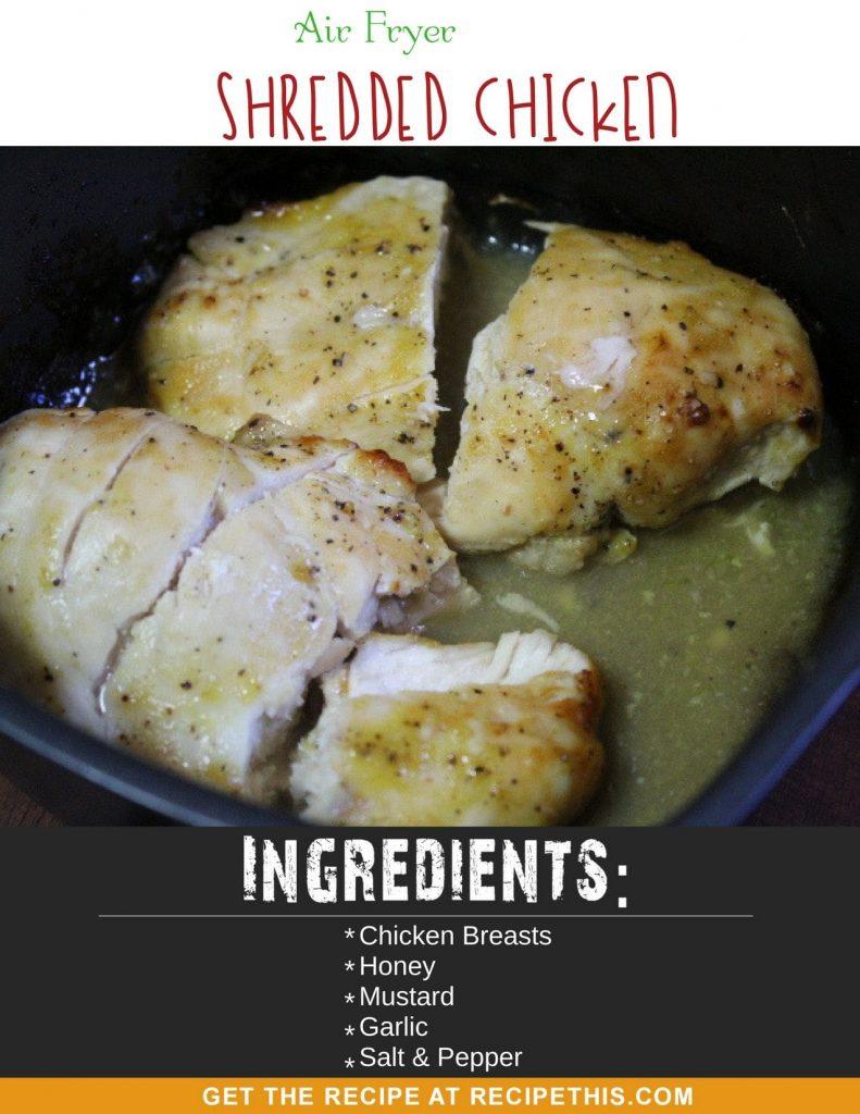Air Fryer Shredded Chicken