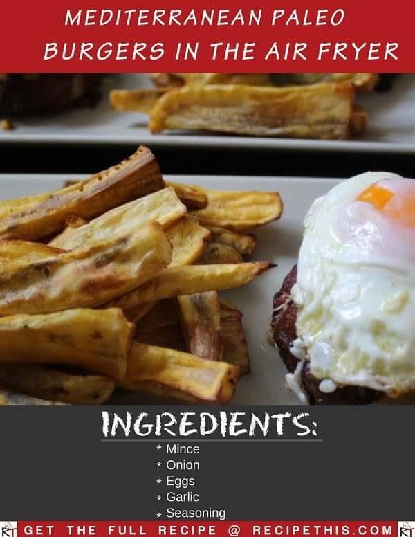 Mediterranean Paleo Burgers In The Air Fryer