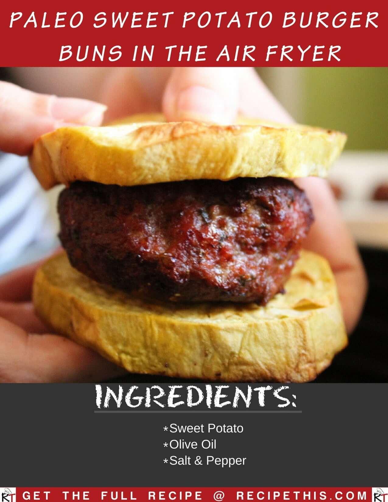 Paleo Sweet Potato Burger Buns In The Air Fryer