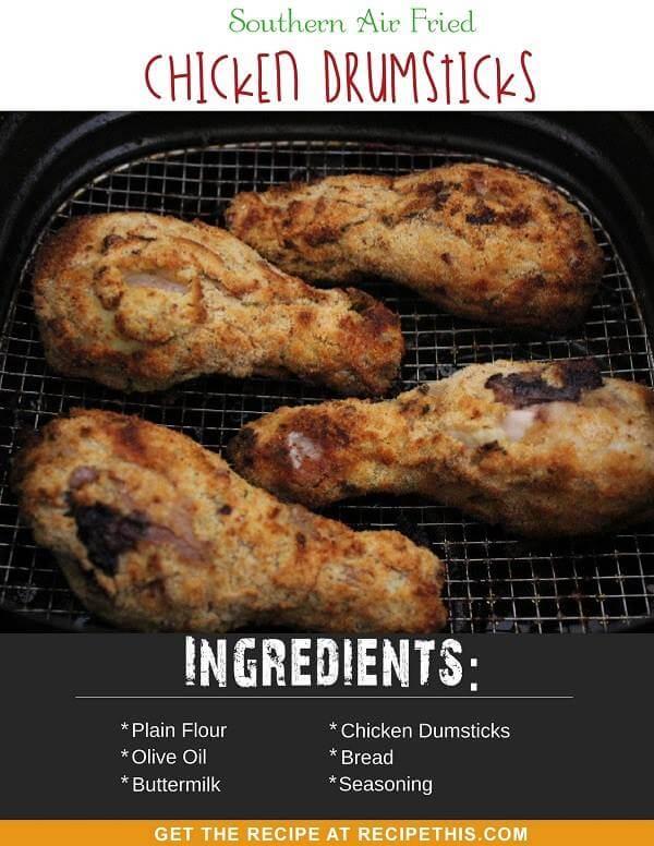 Southern Air Fried Chicken Drumsticks
