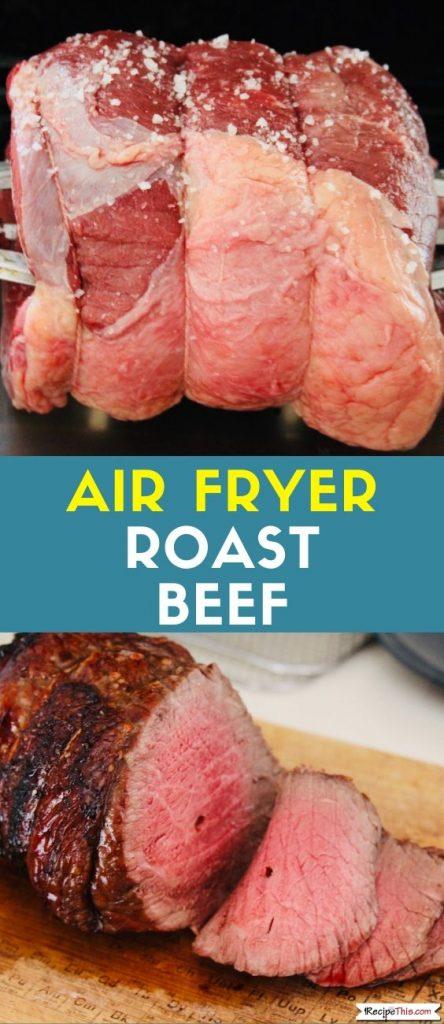 Air Fryer Roast Beef Recipe