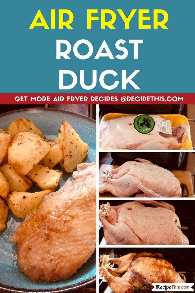 Air Fryer Roast Duck step by step