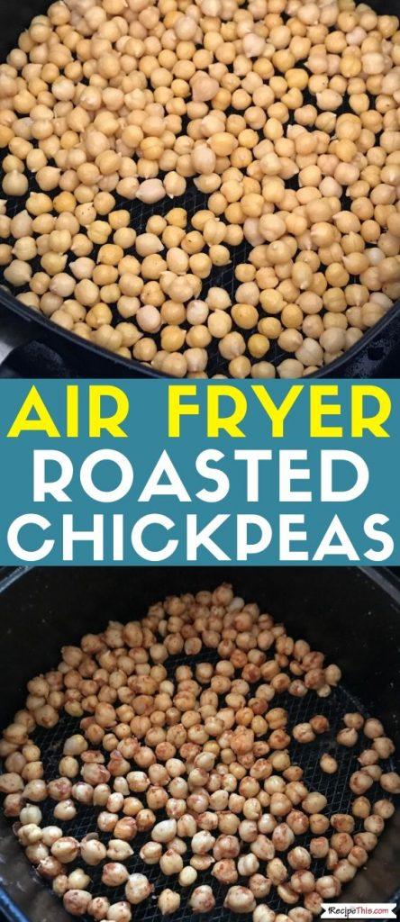 Air Fryer Roasted Chickpeas recipe