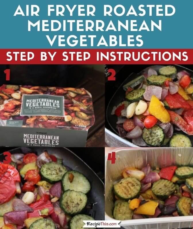 Air Fryer Roasted Mediterranean Vegetables