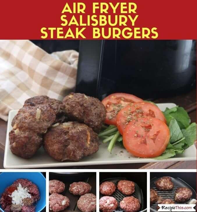 Air Fryer Salisbury Steak Burgers