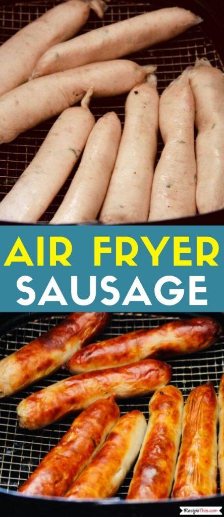 Air Fryer Sausage recipe