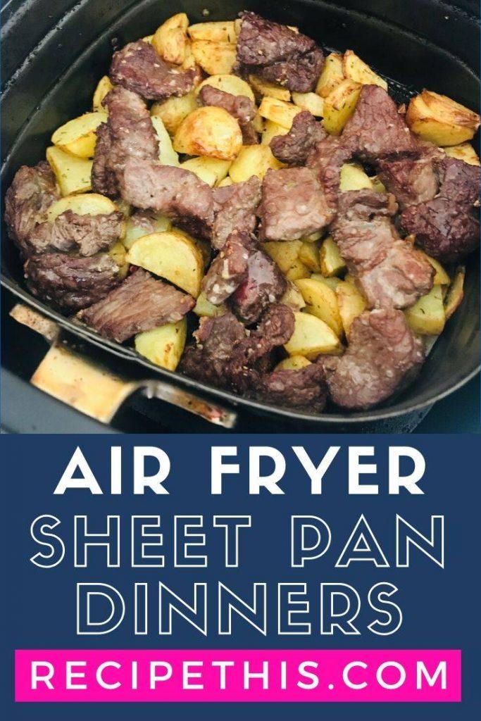 Air Fryer Sheet Pan Dinners at recipethis.com