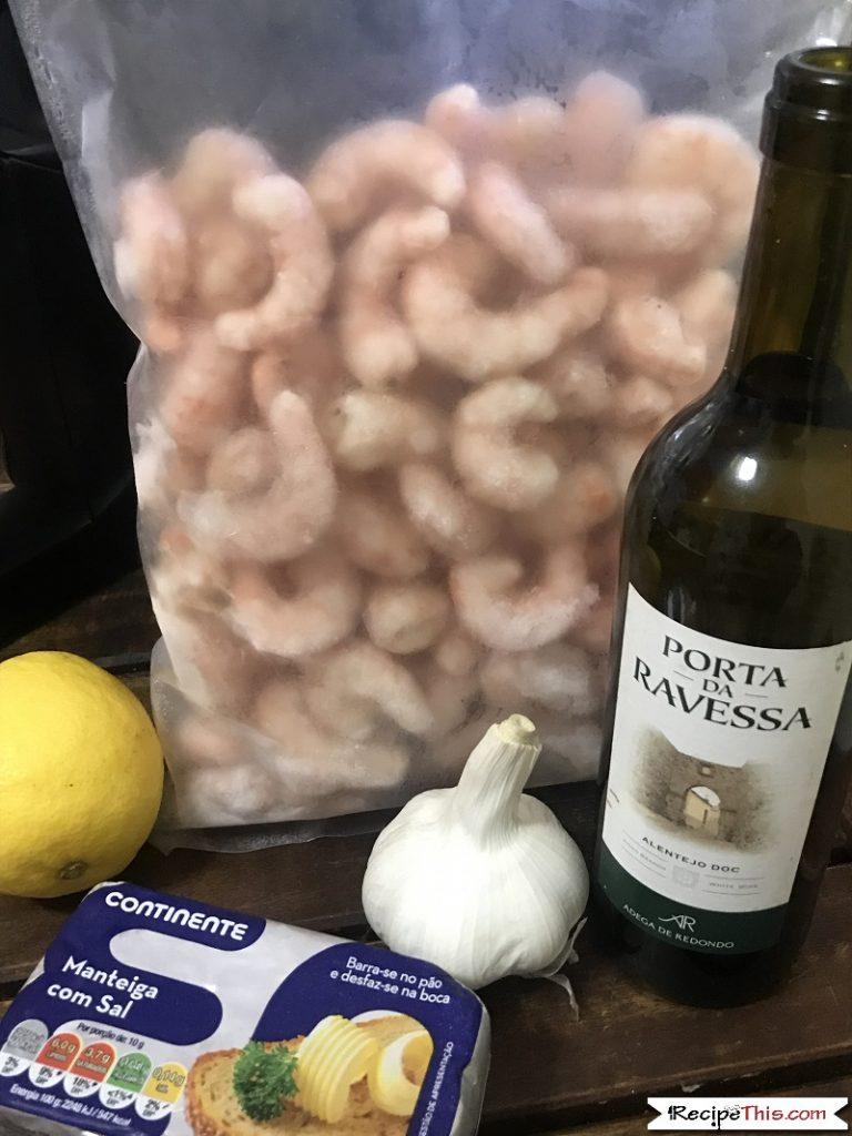 Air Fryer Shrimp Scampi Ingredients