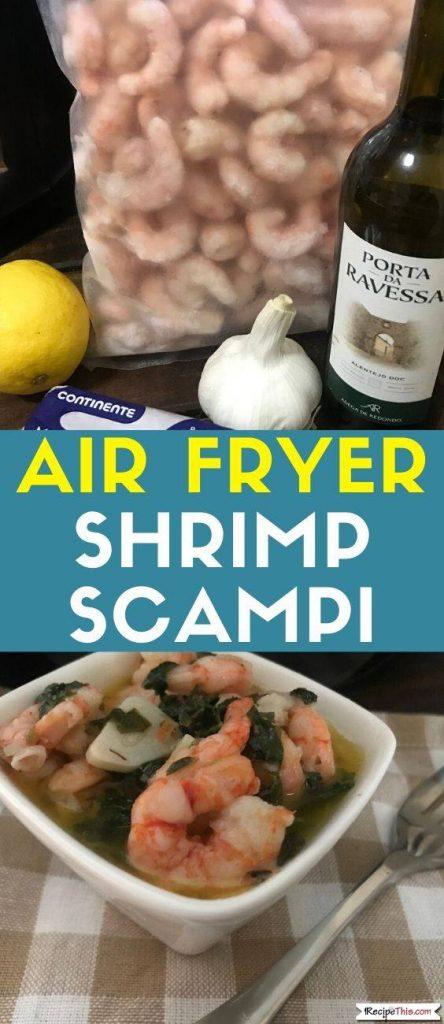 Air Fryer Shrimp Scampi Recipe