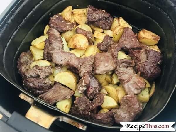 Air Fryer Steak Bites And Potatoes