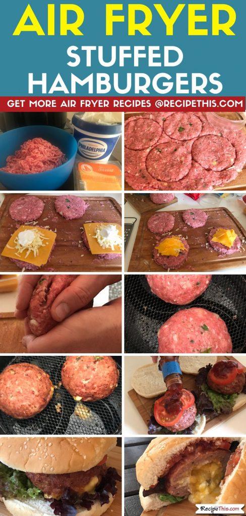 Air Fryer Stuffed Hamburgers step by step