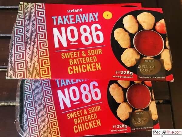 Air Fryer Sweet & Sour Chicken Balls in box
