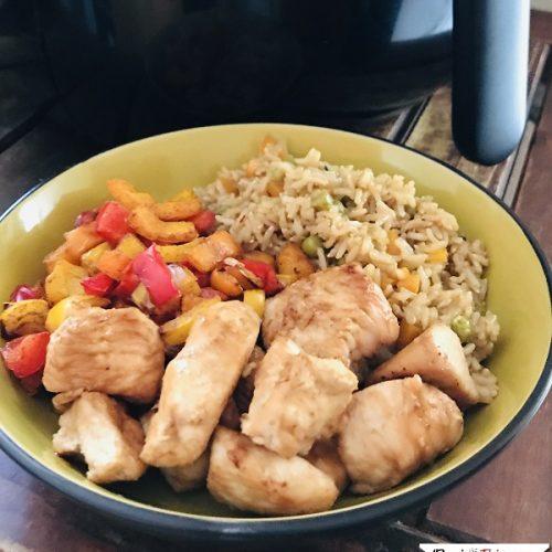 Air Fryer Teriyaki Chicken Bowl