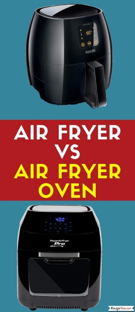 Air Fryer Vs Air Fryer Oven comparison