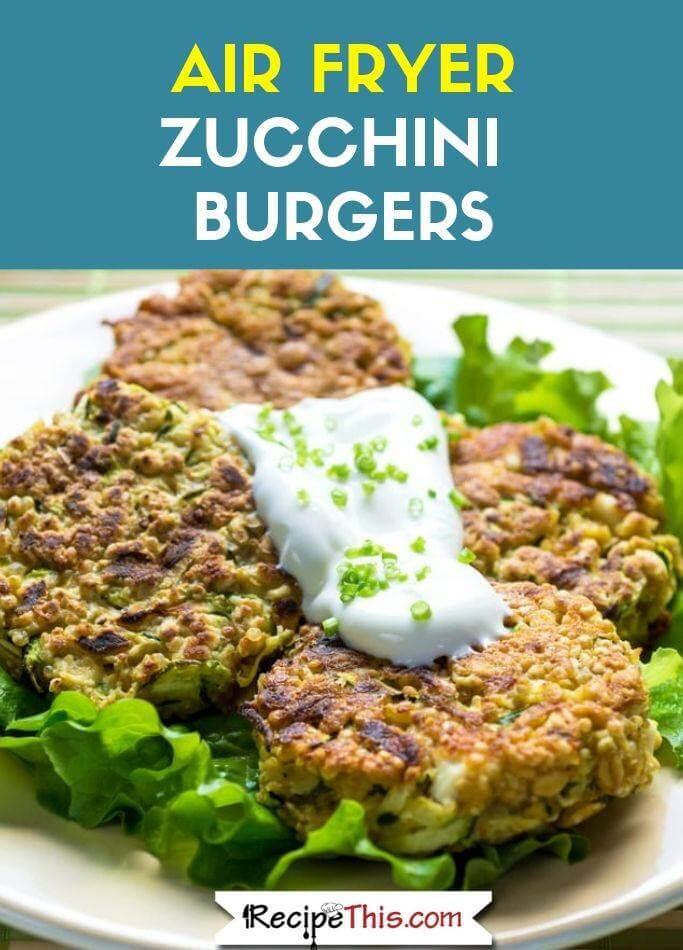 Air Fryer Zucchini Burgers