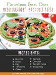 Flourless Best Ever Mediterranean Broccoli Pizza