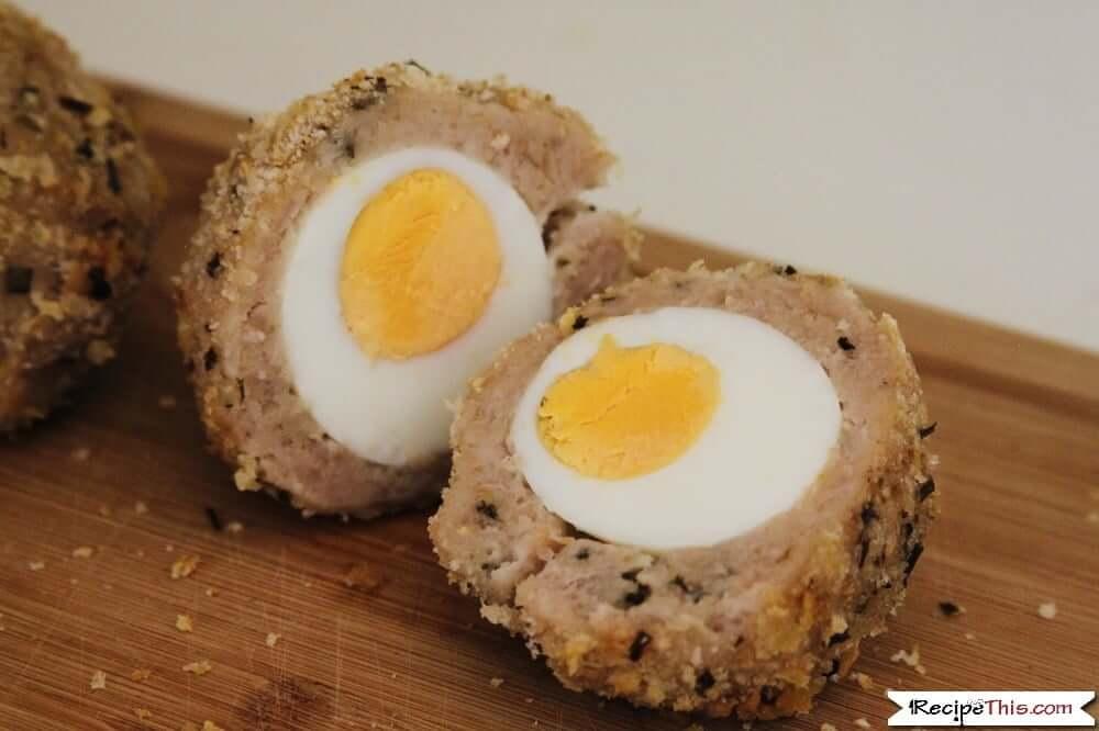 Air fryer scotch eggs