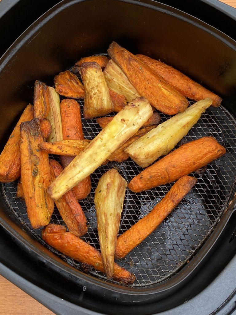 Air Fryer Frozen Parsnips & Carrots
