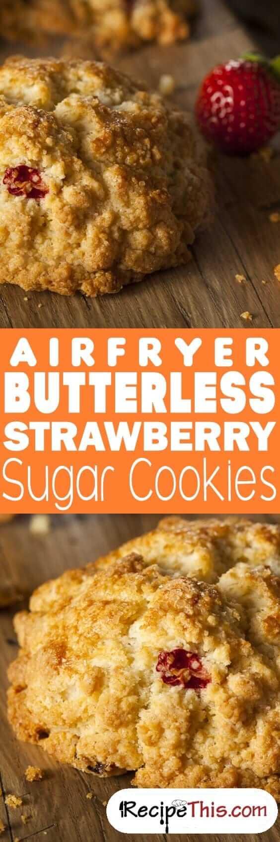 Airfryer Butterless Strawberry Sugar Cookies