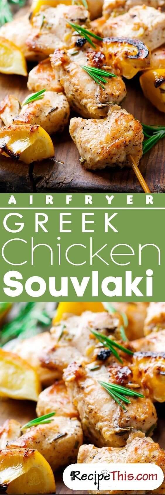 Airfryer Greek Chicken Souvlaki