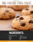 Airfryer Dark Chocolate Chunk Cookies