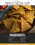 Airfryer Pumpkin Tortilla Chips