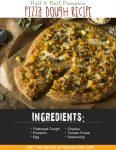 Half & Half Pumpkin Pizza Dough Recipe
