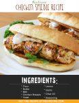 Airfryer Chicken Spiedie Recipe
