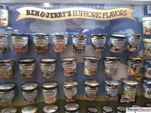 Ben & Jerrys Flavours