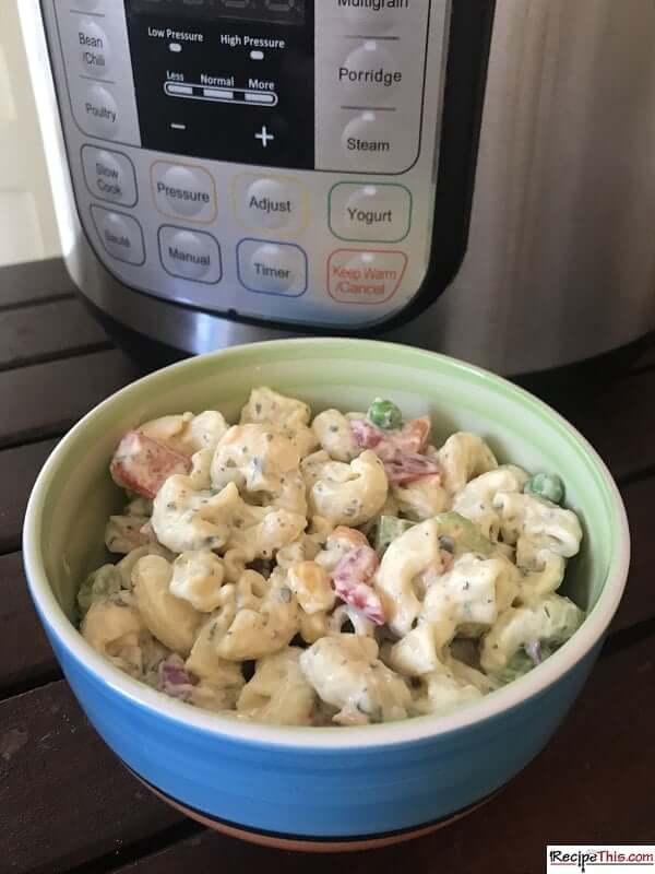 Best Instant Pot Macaroni Salad small bowl