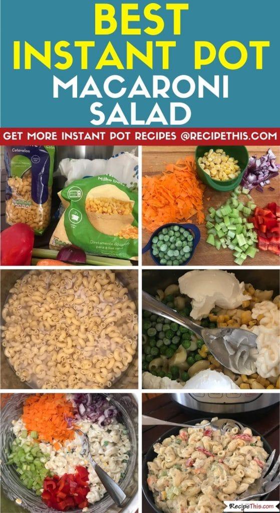Best Instant Pot Macaroni Salad step by step