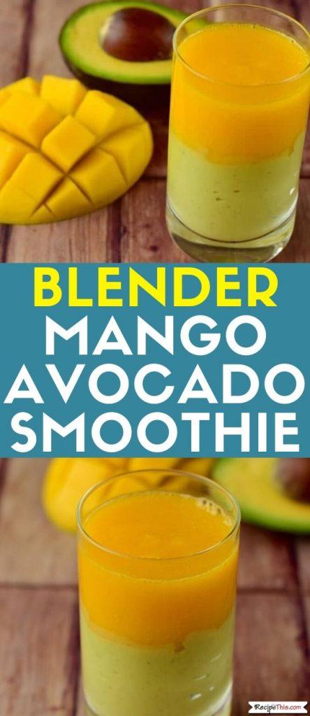 Blender Avocado Mango Smoothie recipe