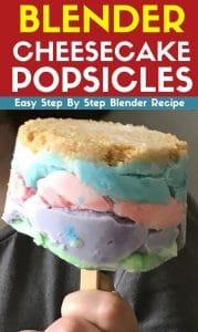 Blender Cheesecake Popsicles