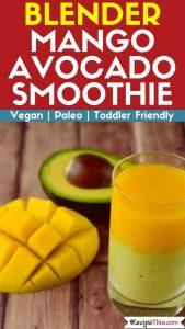 Blender Mango Avocado Smoothie recipe