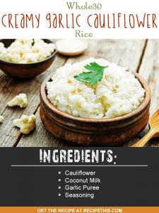 Blender Recipes | Whole30 creamy coconut cauliflower rice recipe from RecipeThis.com