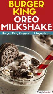 Burger King Oreo Milkshake