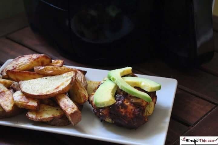 Chicken Avocado Burgers In The Air Fryer