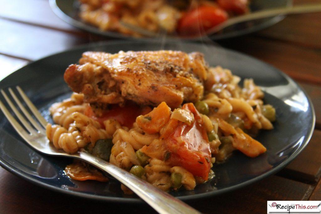 Chicken Thighs Pasta Bake