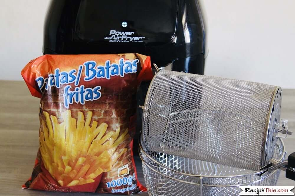 Cooking Frozen French Fries in the air fryer oven