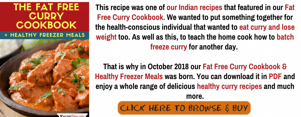 Fat Free Curry Cookbook Extract