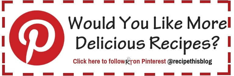 Follow RecipeThis.com On Pinterest